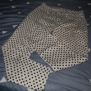 Loft Super Skinny Polka Dots Jeans